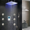 "BathSelect 40"" Monarc LED Shower Set, Complete with Mixer and Body Jets"