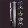 Petra LED Rainfall Shower Set in Chrome Finish