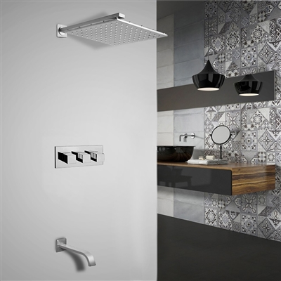 Shop Sita Platinum Led Shower Set With Diverter Mixer And Led Spout Faucet Available In 4 Sizes One Month Speicl Sale