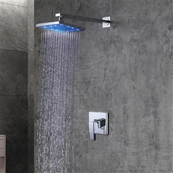 Leonardo LED Light Shower Head with Built in Mixer