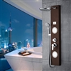 Glass Shower Panel System with Hand Shower & Massage Jets in Oil Rubbed Bronze