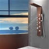 ORB Shower Panel Tower with Rainfall Waterfall 5 Body Jets 3-Function Handheld Showerhead Wall-Mount Complete Shower Column