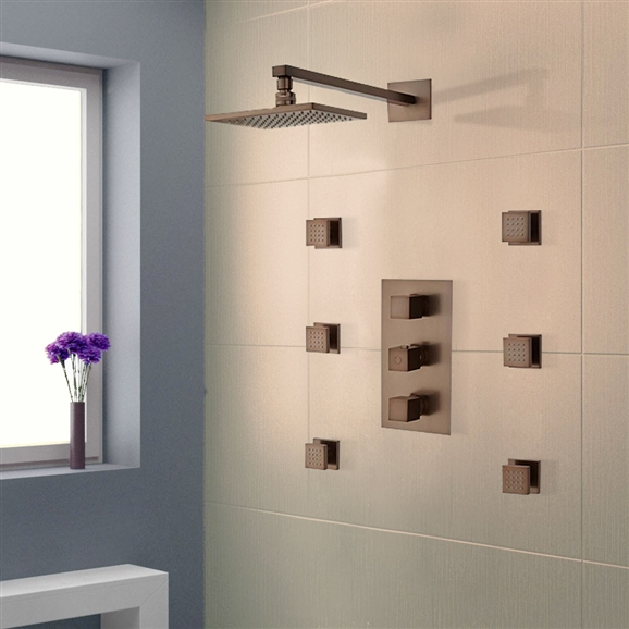 Reno Oil Rubbed Bronze Finish Shower System Led Set Larger Photo Email A Friend