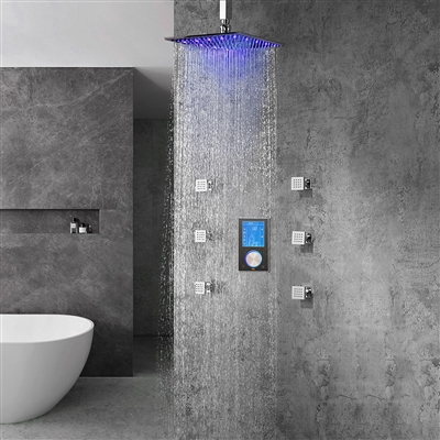 Trialo Solid Brass Ceiling Mount Led Shower System