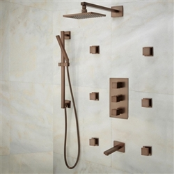 Lunen Oil Rubbed Bronze Shower Set