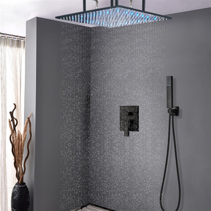 Oil Rubbed Bronze shower head multi color led