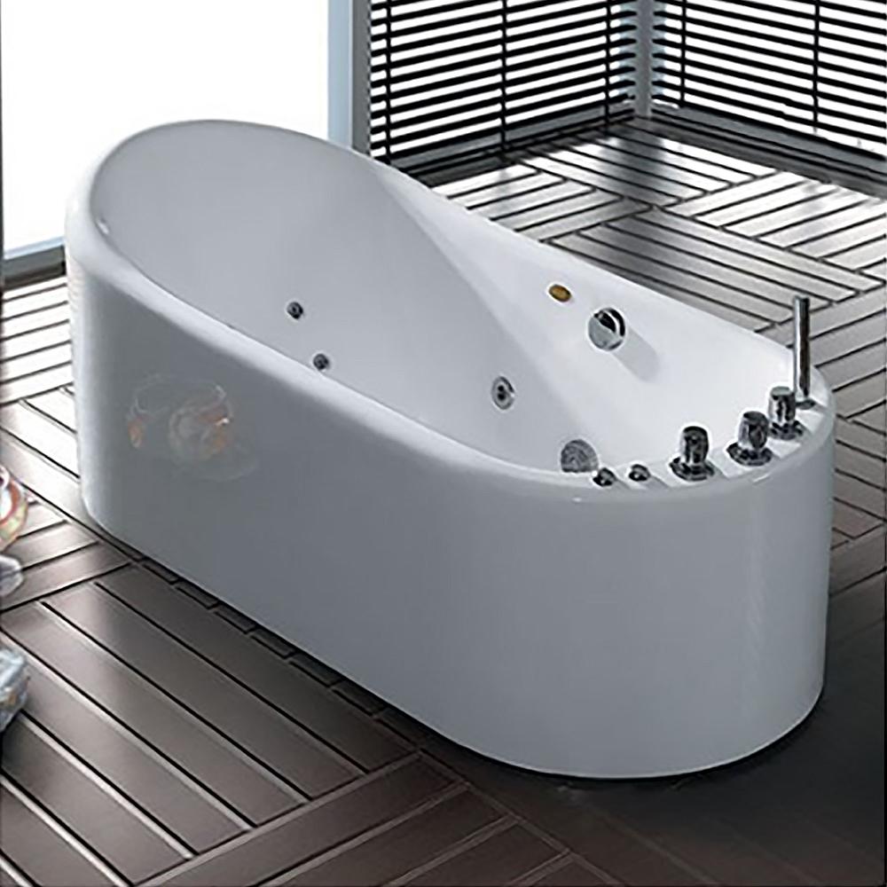 Shop Luna Bathtub Spa Whirlpool Soaking Freestanding Bathtub At ...