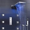 "Dijon 22"" LED Color Changing Thermostatic Waterfall Rain Shower System"