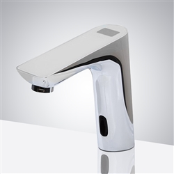 New Brand Digital Display Bathroom Automatic Hands Touch Free Sensor Faucet Chrome Brass Sink Mixer Tap Faucet