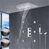 Nariman Recessed Color Changing Water Powered Led Shower with Adjustable Body Jets