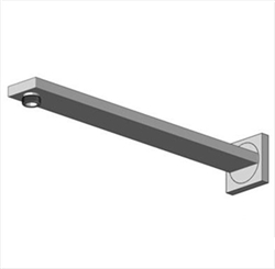 15-Inch Wall Mount Shower Arm with 1/2-Inch NPT Thread - see available finishes