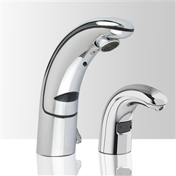 Brio Commercial Automatic Sensor Faucet with Matching Soap Dispenser