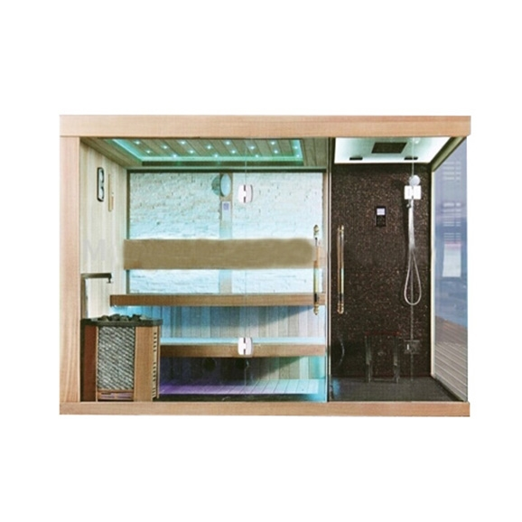 junoshowers luxury steam sauna room with shower