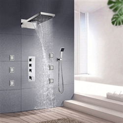 BathSelect Bari Ultra Bathroom Digital Body Massage Waterfall Shower Set
