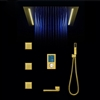 BathSelect Reno Gold Tone Color Changing LED Rain Shower Set