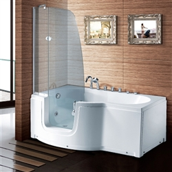 BathSelect Rio High Glass Door Walk-in Tub Set
