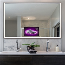 BathSelect Frosted Soft LED Android Smart Mirror With Built In TV