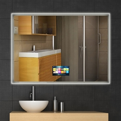 BathSelect Wall Mount Soft LED Light Smart Mirror With HD Television