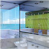 BathSelect Rectangular Frameless Smart Television Mirror With Intelligent Control Functions