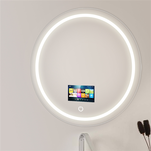 frosting glass windows reviews online shopping frosting.htm shop round tempered glass smart television mirror with touchscreen  round tempered glass smart television