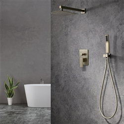 Reno Square Rain Shower Head With 2 Way Shower Mixer And Handheld Shower Set