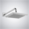 Reno Contemporary Style Stainless Steel Square Rain Shower Head