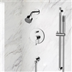 Peru Wall Mount Chrome Shower Set with Digital Valve Mixer