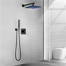 BathSelect New Hampshire Oil Rubbed Bronze Led Rainfall Shower System Set