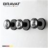 Bravat Gold Three Crystal Handle Thermostatic Bathroom Shower Mixer