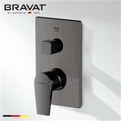 Bravat 2-Way Concealed Wall Mount Shower Valve Mixer In Dark Oil Rubbed Bronze Finish