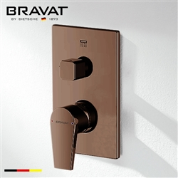 Bravat 2-Way Concealed Wall Mount Shower Valve Mixer In Light Oil Rubbed Bronze Finish