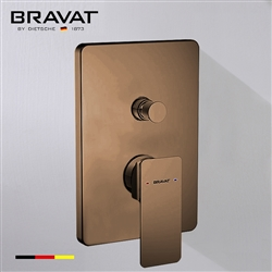 Bravat Solid Brass Square Shower Mixer Control Valve In Light Oil Rubbed Bronze Finish
