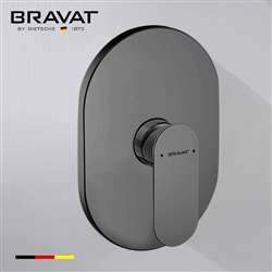 Bravat Single Handle Wall Mount Shower Valve Mixer In Dark Oil Rubbed Bronze Finish
