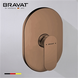 Bravat Single Handle Wall Mount Shower Valve Mixer In Light Oil Rubbed Bronze Finish