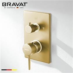 Bravat Brushed Gold  2-Way Shower Mixer Control Valve