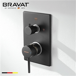 Bravat Solid Brass Dark Oil Rubbed Bronze 2-Way Shower Mixer Control Valve