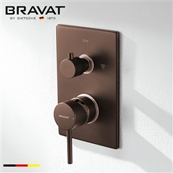 Bravat Solid Brass Light Oil Rubbed Bronze 2-Way Shower Control Mixer Valve