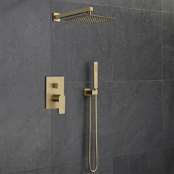 BathSelect Dax Brushed Gold Bathroom Shower Combo Set