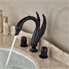 Reno Swan Faucet Deck Mount Oil Rubbed Bronze Finish
