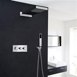 Châtau Contemporary Shower Set Stainless with Concealed Wall Mounted Mixer
