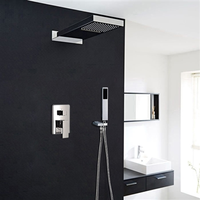 Prelude Contemporary Shower Set Concealed Wall Mounted