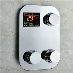 Juno Digital Thermostatic Temperature Sensitive 3 Way Shower Mixer Control Valve Water Powered