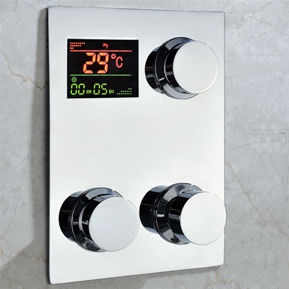 Shop Fontana Luxury Digital Built In Thermostatic Mixing Valve Lcd ...