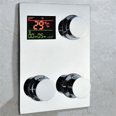 High Quality Luxury Digital inwall Thermostatic Shower Mixing Valve Faucet Mixer Tap with LCD Screen 5 Years Guarantee
