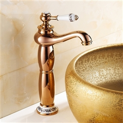 Verona Gold Finish Bathroom Faucet