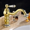 Lila Brass Sink Faucet Gold Finish Single Handle