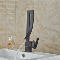 Oil Rubbed Bronze Designer Single Lever Bathroom Sink Faucet