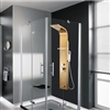 Reno Bathroom 0.8mm Thickness Stainless Steel Rainfall Shower Panel Rain Massage System with Jets &Hand Shower&Rack Bathroom 0.8mm Thickness Stainless Steel Rainfall Shower Panel Rain Massage System Faucet with Jets&Hand Shower&Rack