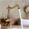 Antique Single Lever Bronze copper Finish Bathroom Sink faucet