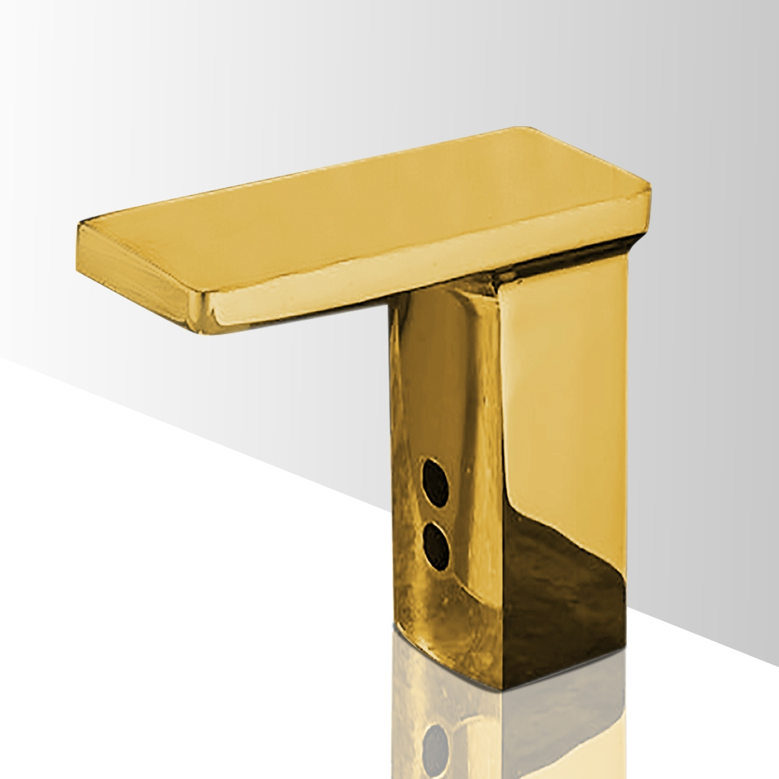 Gold Plated Contemporary touchless bathroom faucets